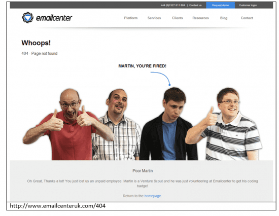 emailcentreerror404page