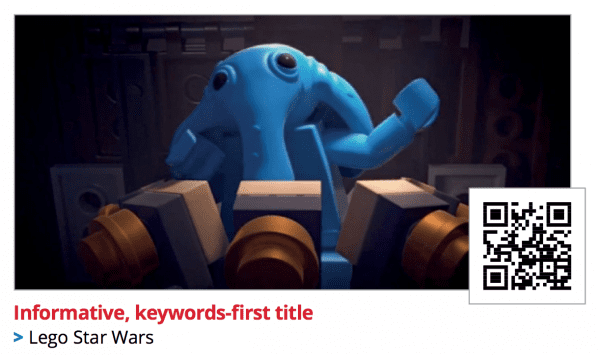 Using keywords in video title