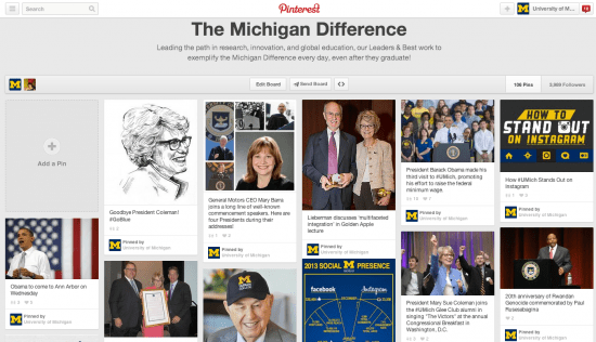 the michigan difference pinterest board