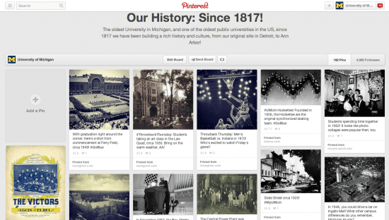 University of michigan history pinterest
