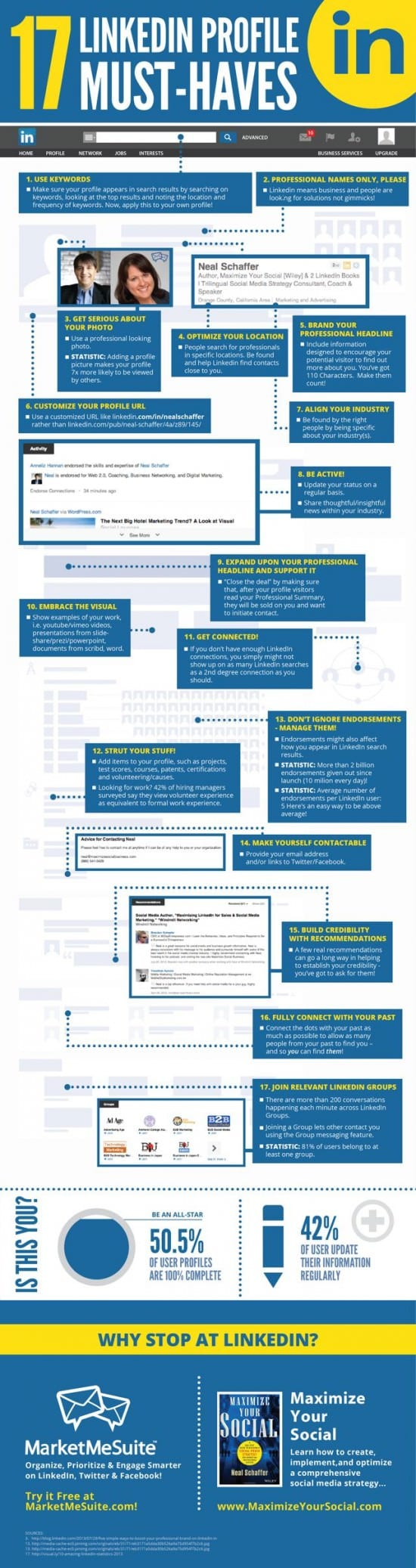 LinkedIn17musthavesinfographic