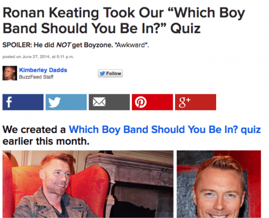 Ronan Keating quiz