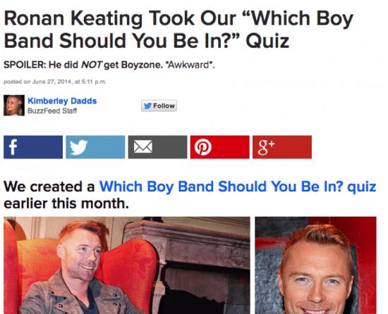 Ronan Keating quiz