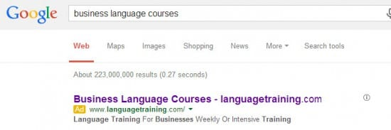 business language course pcc