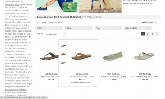 zalando category page