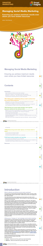 Managing Social Media Marketing Guide