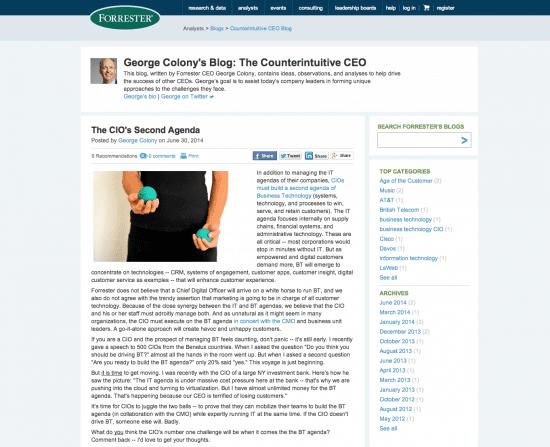Forreseter CEO blog