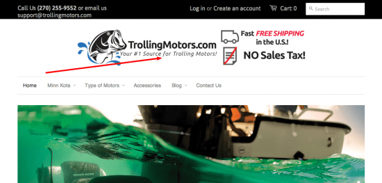 trolling motors onpage seo