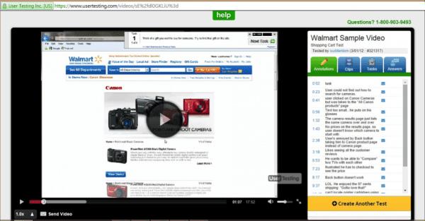 User testing videos