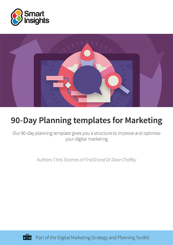 90 day planning templates for marketing smart insights login here look inside accmission Images