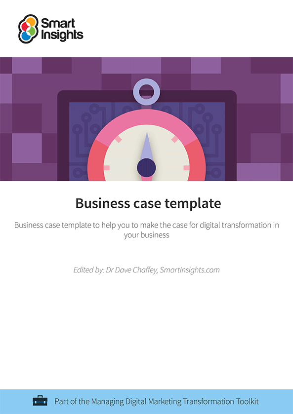 Business case template smart insights login here look inside the business case template wajeb Image collections