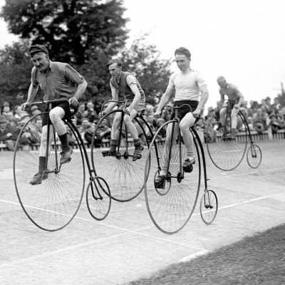 Cycling - Herne Hill - Penny Farthing Race - London - 1932