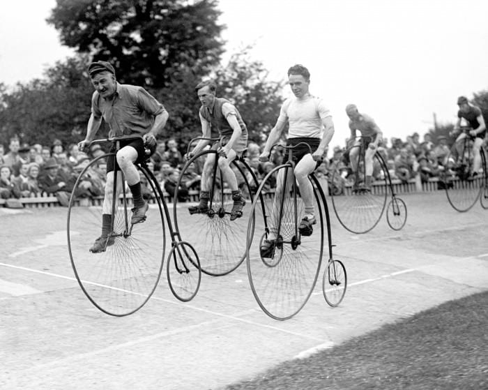Cycling - Herne Hill - Penny Farthing Race - London - 1932 successful content marketing
