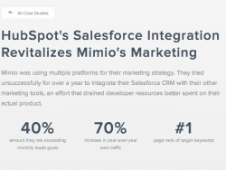 hubspot salesforce mimio marketing