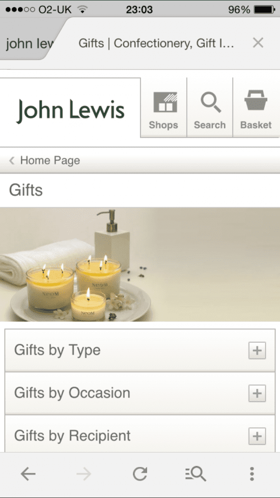 John Lewis Gift and Store FInder