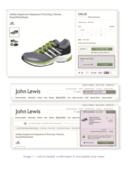 John Lewis check out page