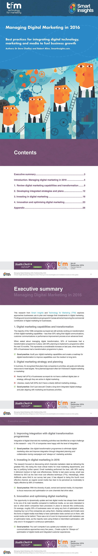 Managing Digital Marketing Research Report