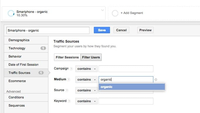1 Using Google Analytics to review Mobile Friendly impact