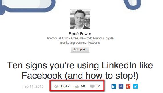 Rene Power Linkedin article post