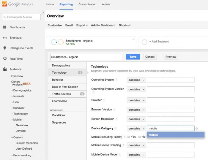 2 Review impact of mobile Google Analytics