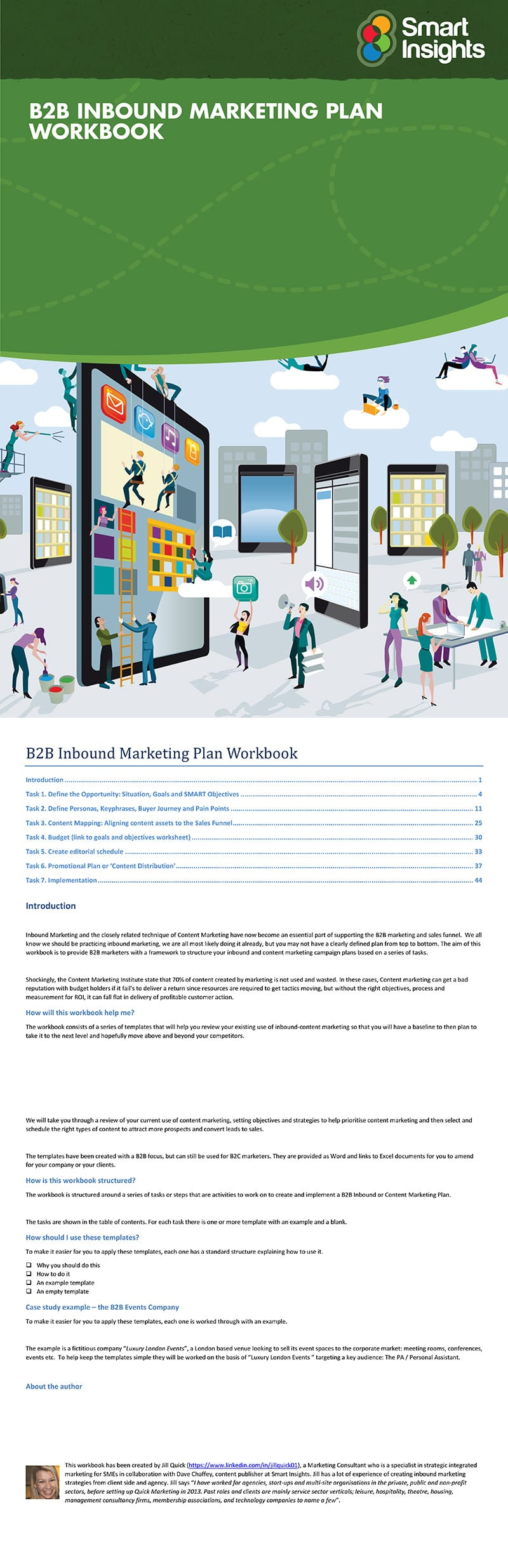 B2B Inbound Marketing workbook