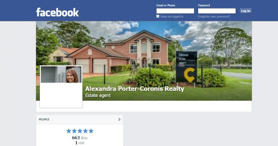 Facebook Alexandra Porter coronis realty