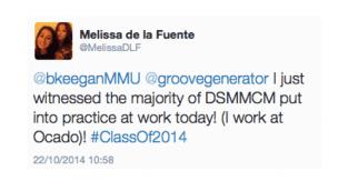MMU Tweet on digital skills