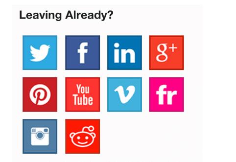 Leaving already - social icons