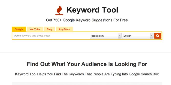 Resultado de imagen para keyword tool io