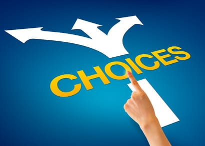 How many options does a binary choice offer