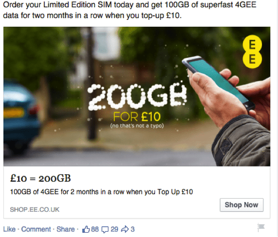 10 examples of effective Facebook ads