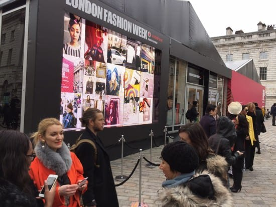 AwesomeWall at London Fashion Week