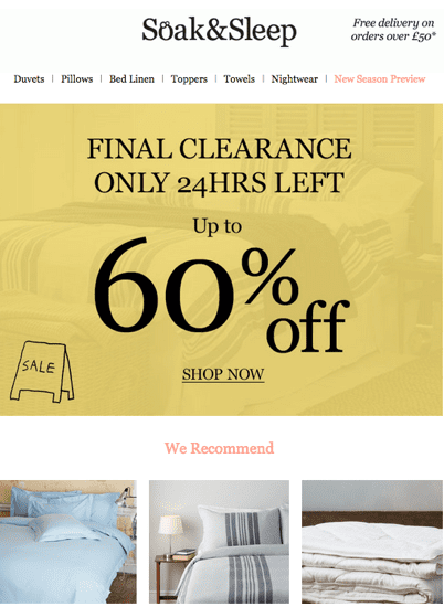 best practice email marketing example