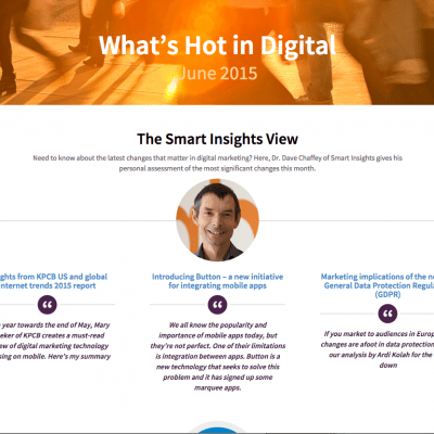 Whats hot in digital June 2015