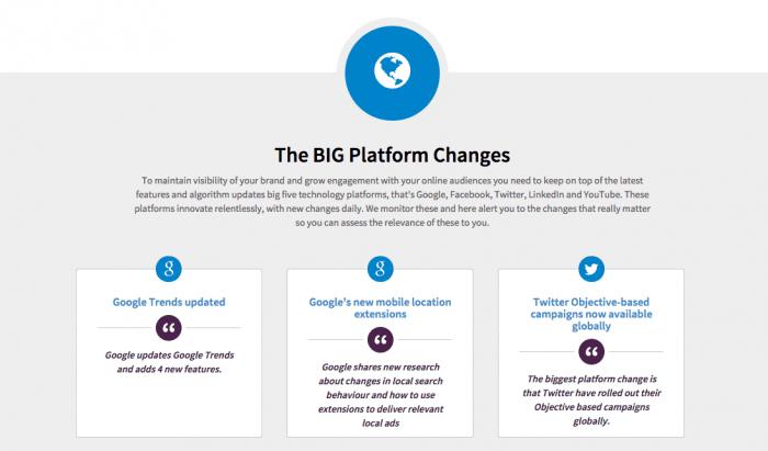 Big platform changes