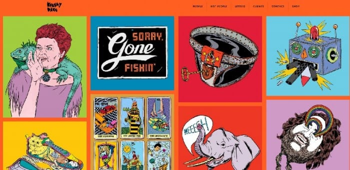 Illustrations on landing page