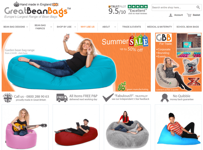 Great Bean Bags Page