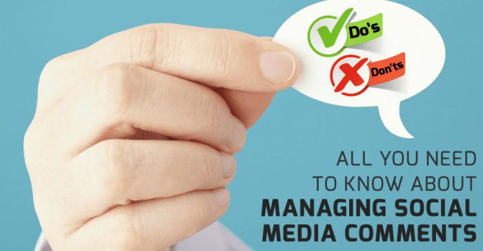 Managing Social Media comments