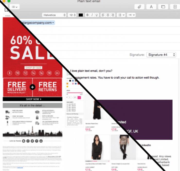 plain text vs html
