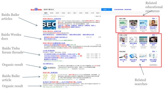 Baidu layout