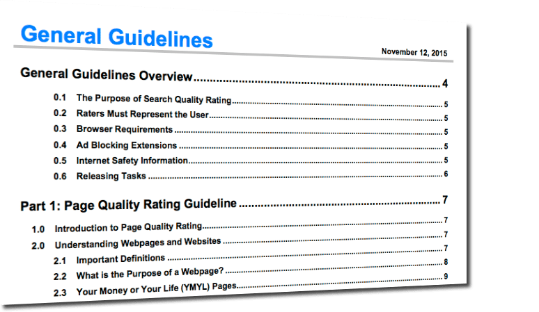 Google Search Quality Guidelides - November 2015