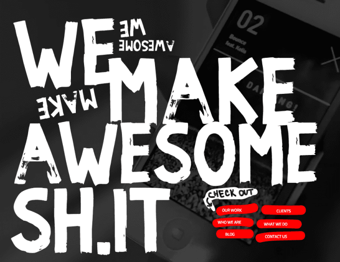 We make awesome sh.it