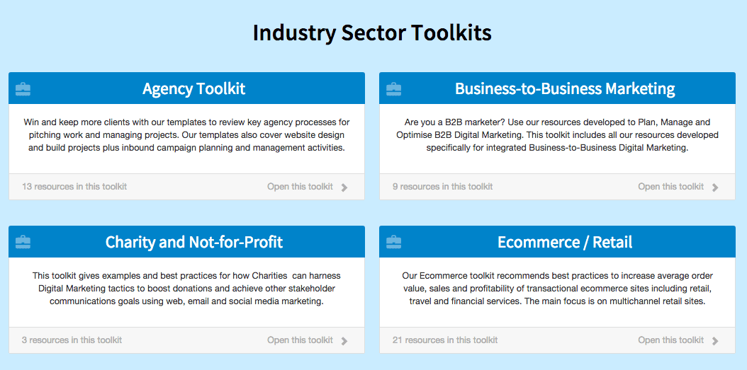 industry specific toolkits