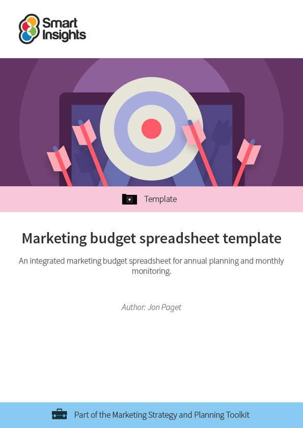 marketing budget spreadsheet template smart insights