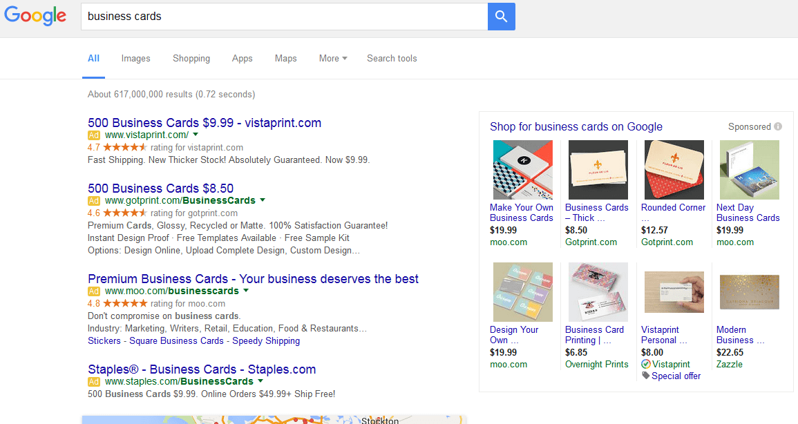Google Sidebar Ads - PLA