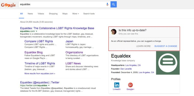 Google Knowledge Graph Changes