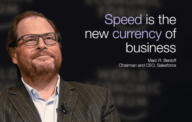 speed is currency of business davos