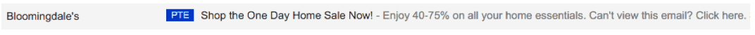 boomingdale email header