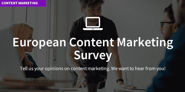 european content marketing survey