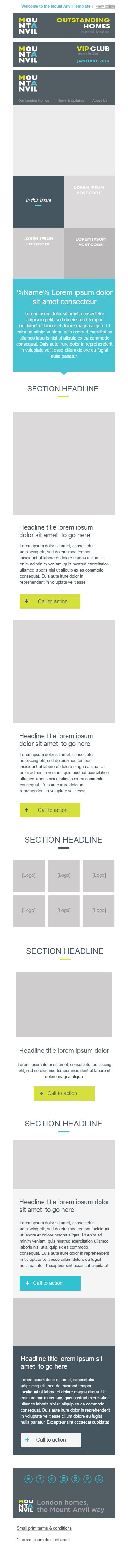 mobile email template
